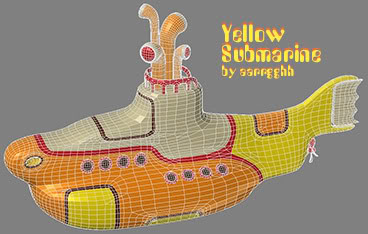 yellow submarine wireframe